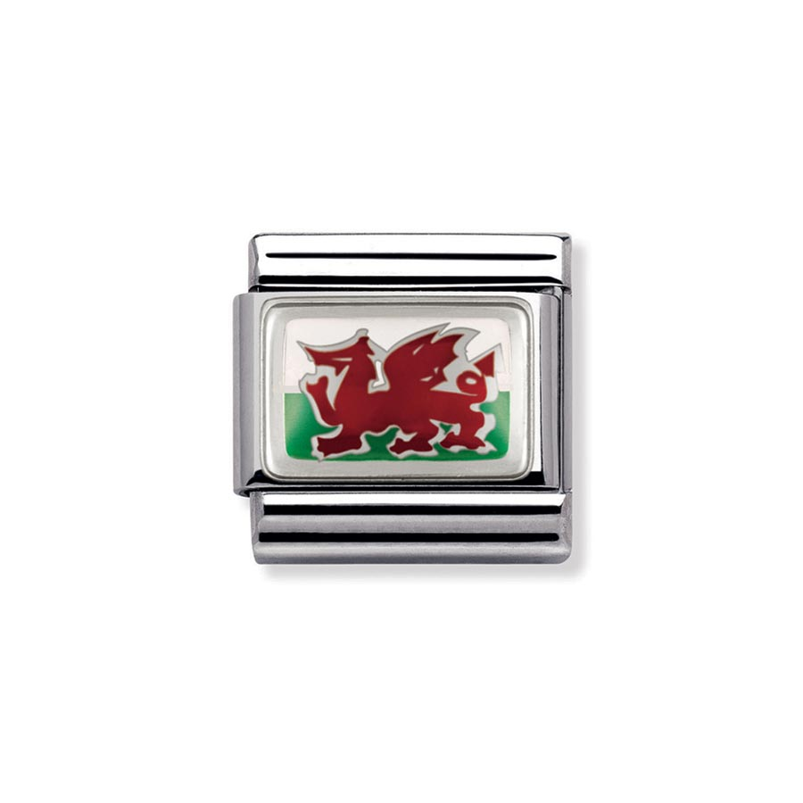 Nomination Classic SilverShine Wales Welsh Flag Charm Andrew Berry 899306e4b3