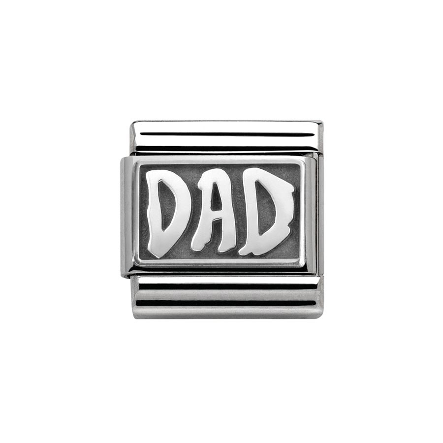 5bbaae281 Nomination Classic My Family Silver Dad Oxidised Charm Andrew Berry